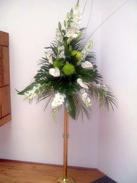 Large Wedding Pedestal Flower Arrangement Large Floral