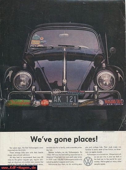 Kdf Wagen Ads 1959 We Ve Gone Places Vintage Volkswagen Volkswagen Classic Volkswagen