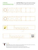 printable worksheet to help children learn to draw a hexagon and write the word hexagon. Black Bedroom Furniture Sets. Home Design Ideas