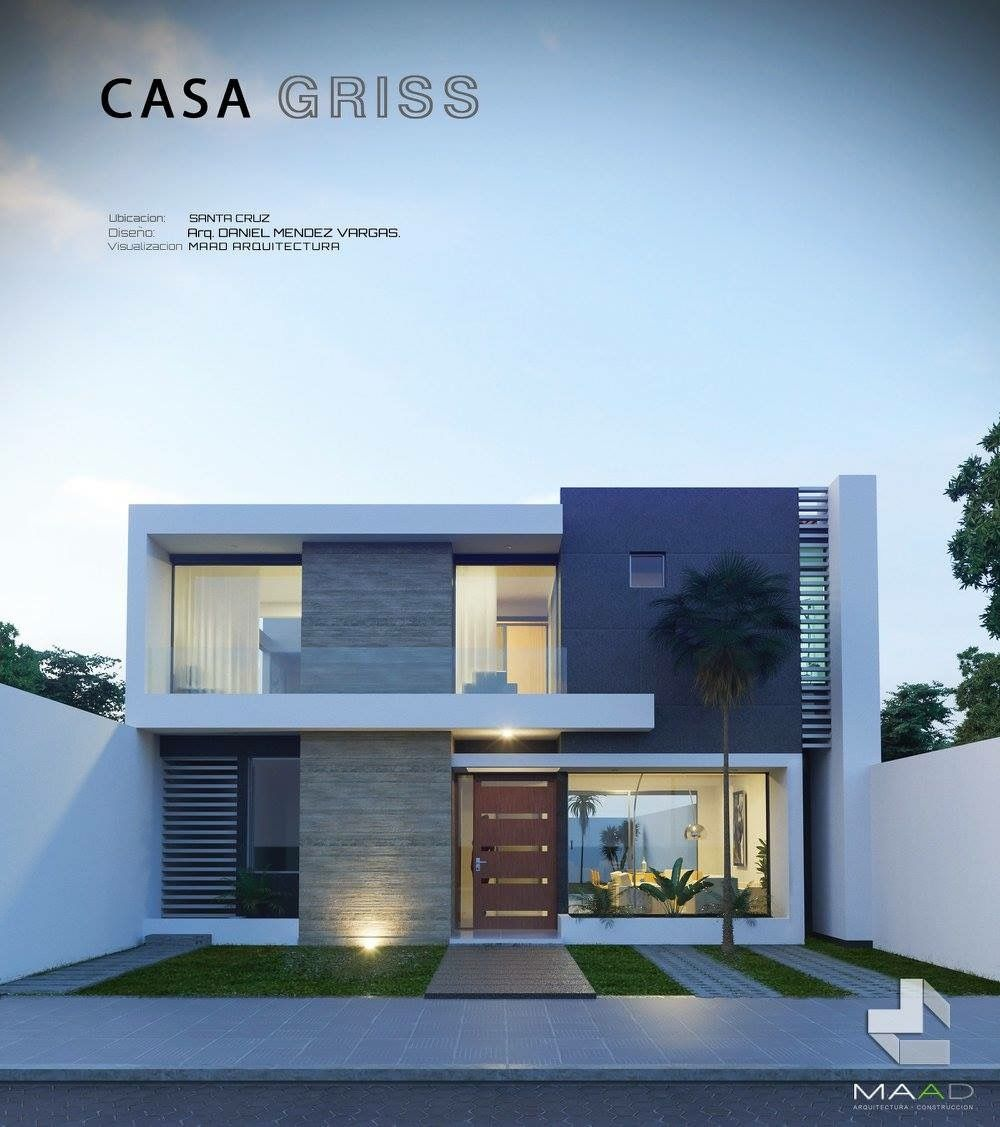 Pin de ntoua em plans casas modernas fachadas de casas for Casa moderna tunisie