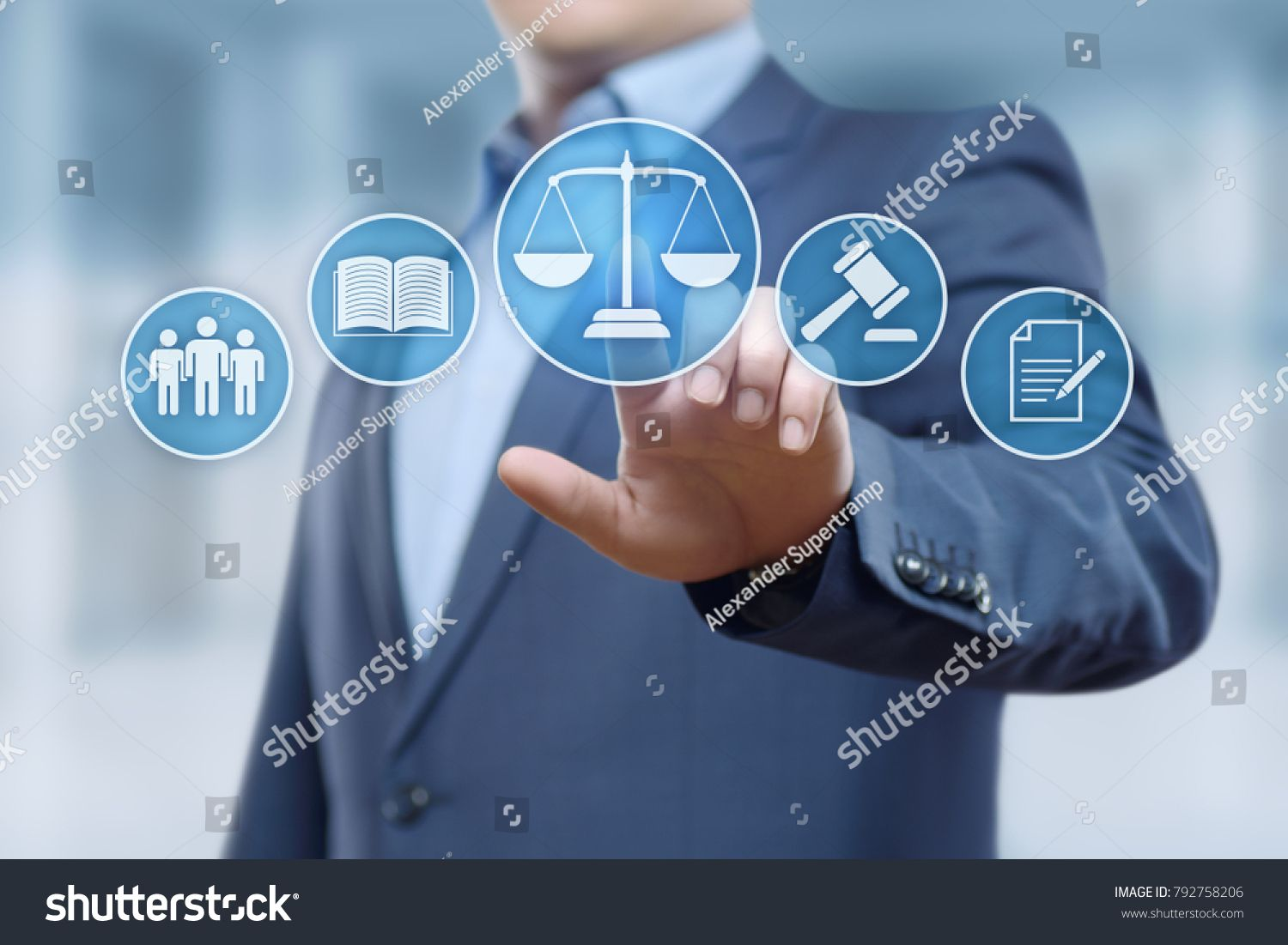 Labor Law Lawyer Legal Business Internet Technology Concept Lawyer