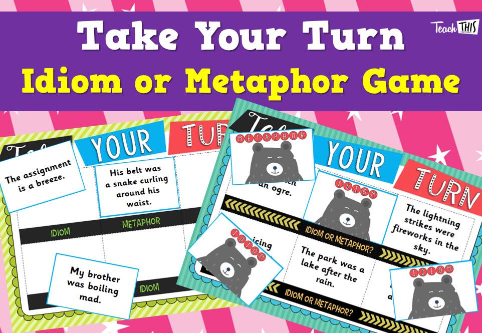 Take Your Turn - Idiom, Metaphor | literacy | Pinterest | Homeschool ...