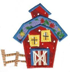 Whimsical Cottage 5 Applique - 5x7 | Farm Applique Machine Embroidery Designs | Machine Embroidery Designs | SWAKembroidery.com