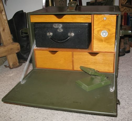 Chalk Paint Military Trunk Officers Desk Ramsey School Forest For Sharing This Idea With Us The