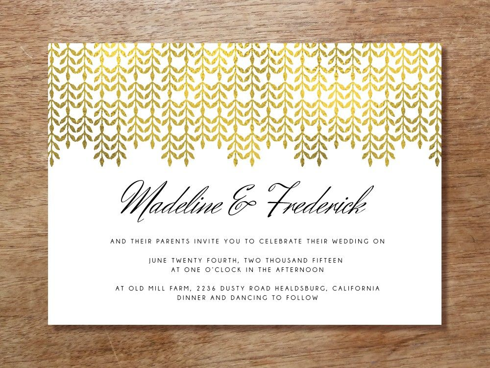 Printable Hochzeitseinladung - Glamorous Gold   Pinterest ...