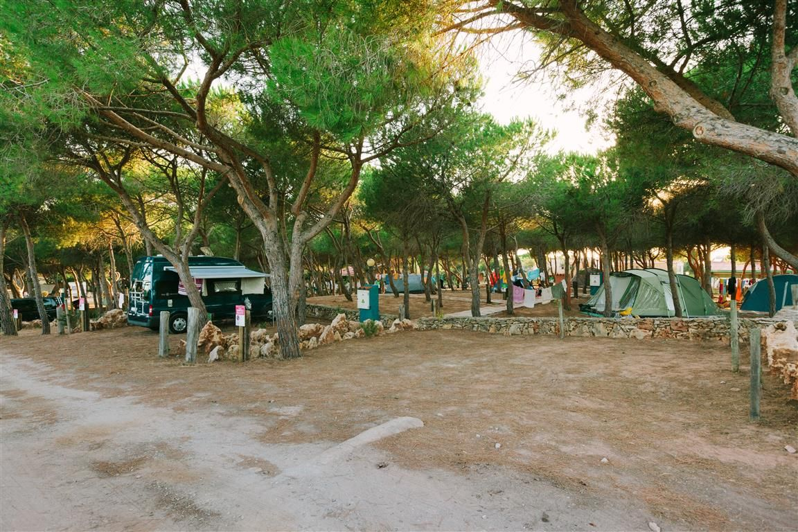 Pitch for Camper and Roulotte. Camping Torre del Porticciolo, Alghero, Sardinia