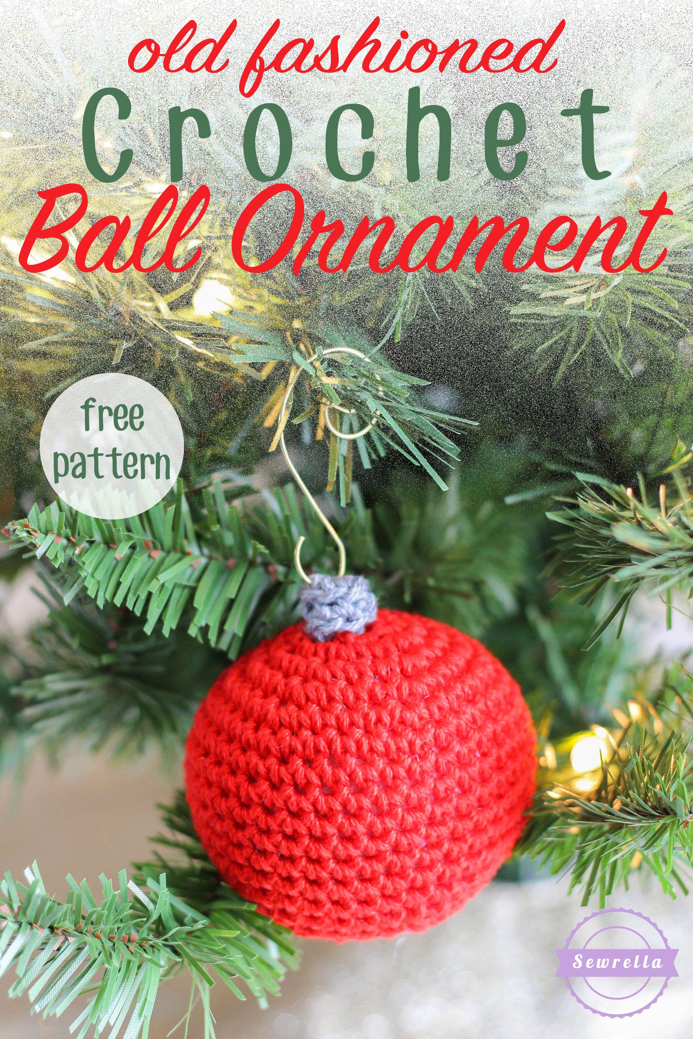 Old Fashioned Crochet Ball Ornament | Sewrella | Pinterest | Crochet ...