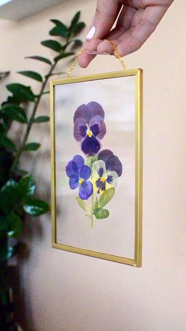 Pressed Flower Pansy Frame Video Pressed Flower Crafts Pressed Flowers Diy Pressed Flowers Frame