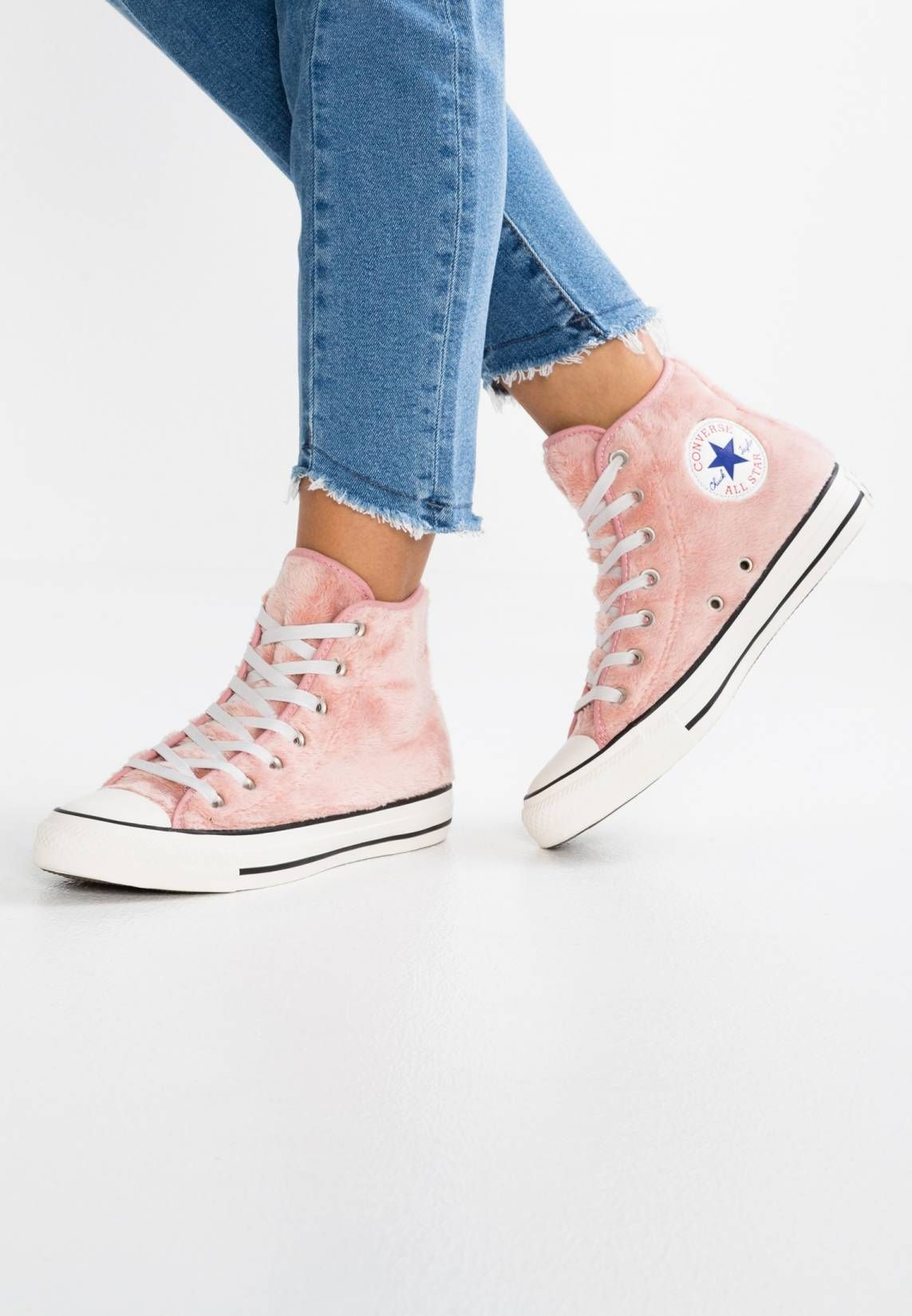 CONVERSE ALL STAR HI FAUX FUR ROSE