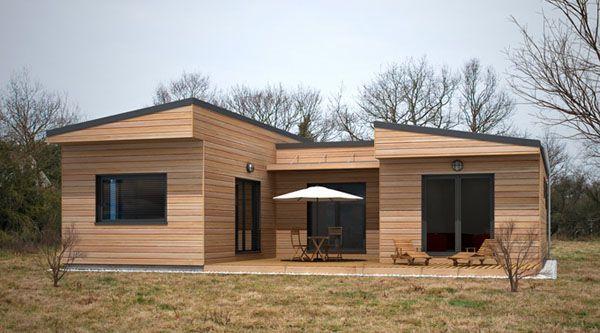 Realisation N°1 | Maison ossature bois, Plan maison contemporaine, Maison contemporaine