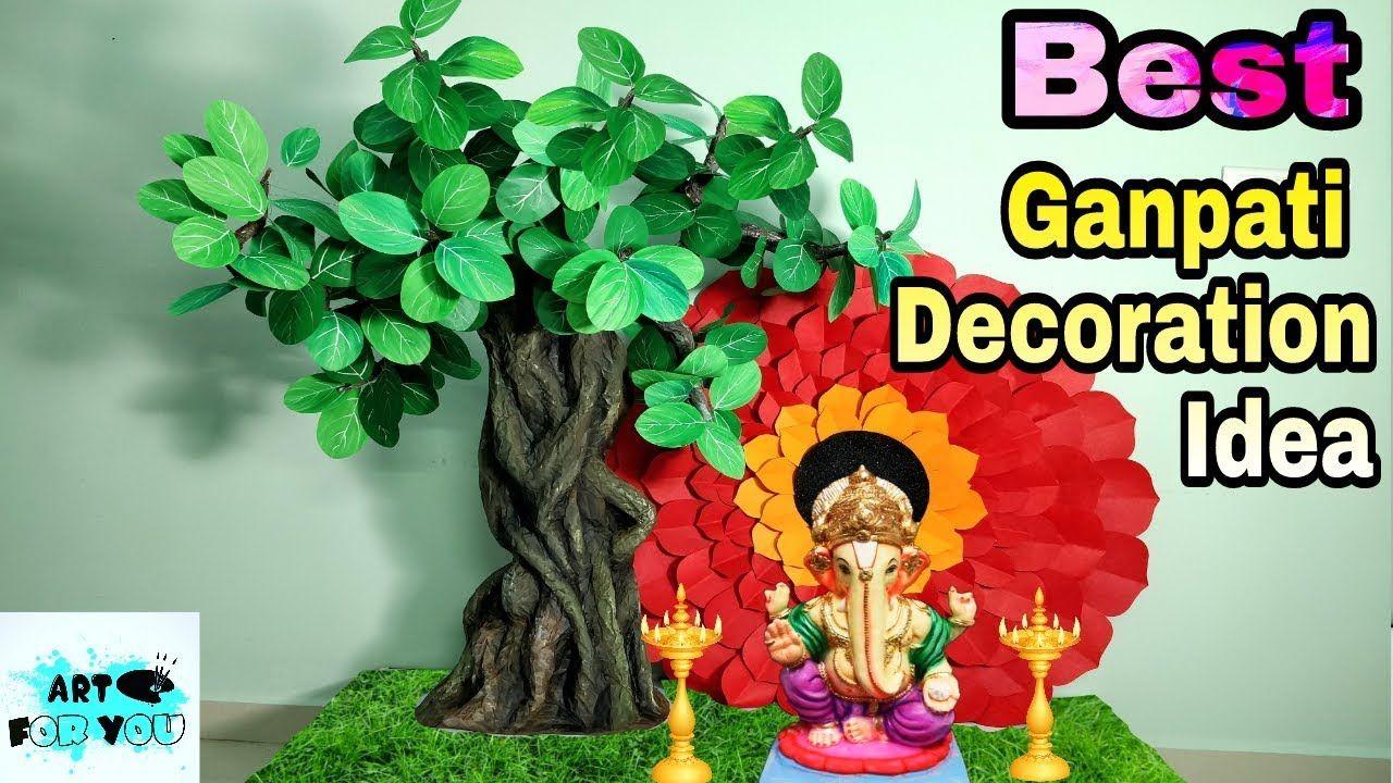 Beautiful Tree Making For Ganpati Decoration 2018 Ganpati