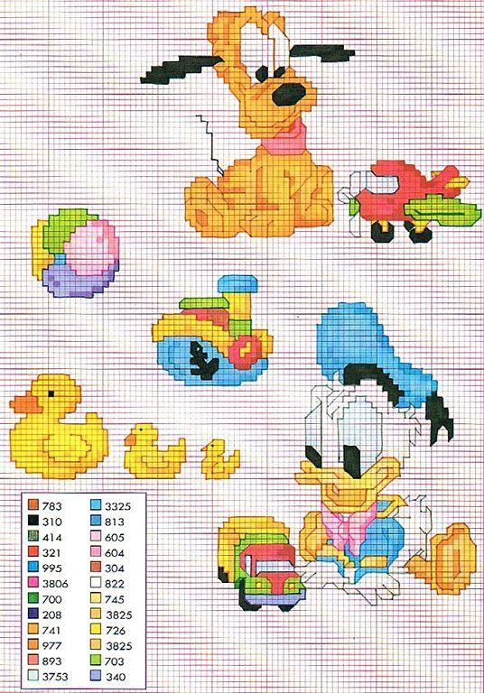 Solo Patrones Punto Cruz   Disney cross stitch   Pinterest   Baby ...
