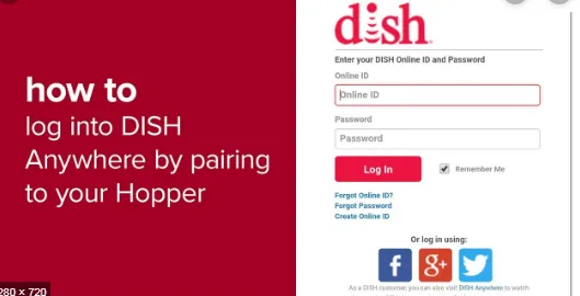 Dish Network Login How To Login To Dish Anywhere Cardshure Networking Internet Settings Facebook Help