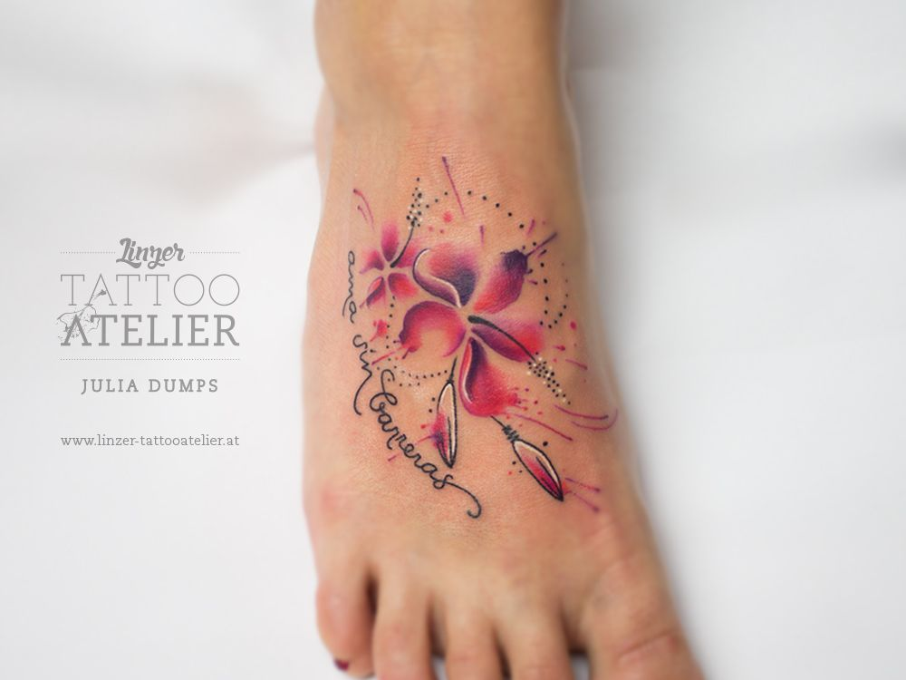 Flower Aquarell Tattoo Aquarell Tattoos Aquarell Tattoo Feen