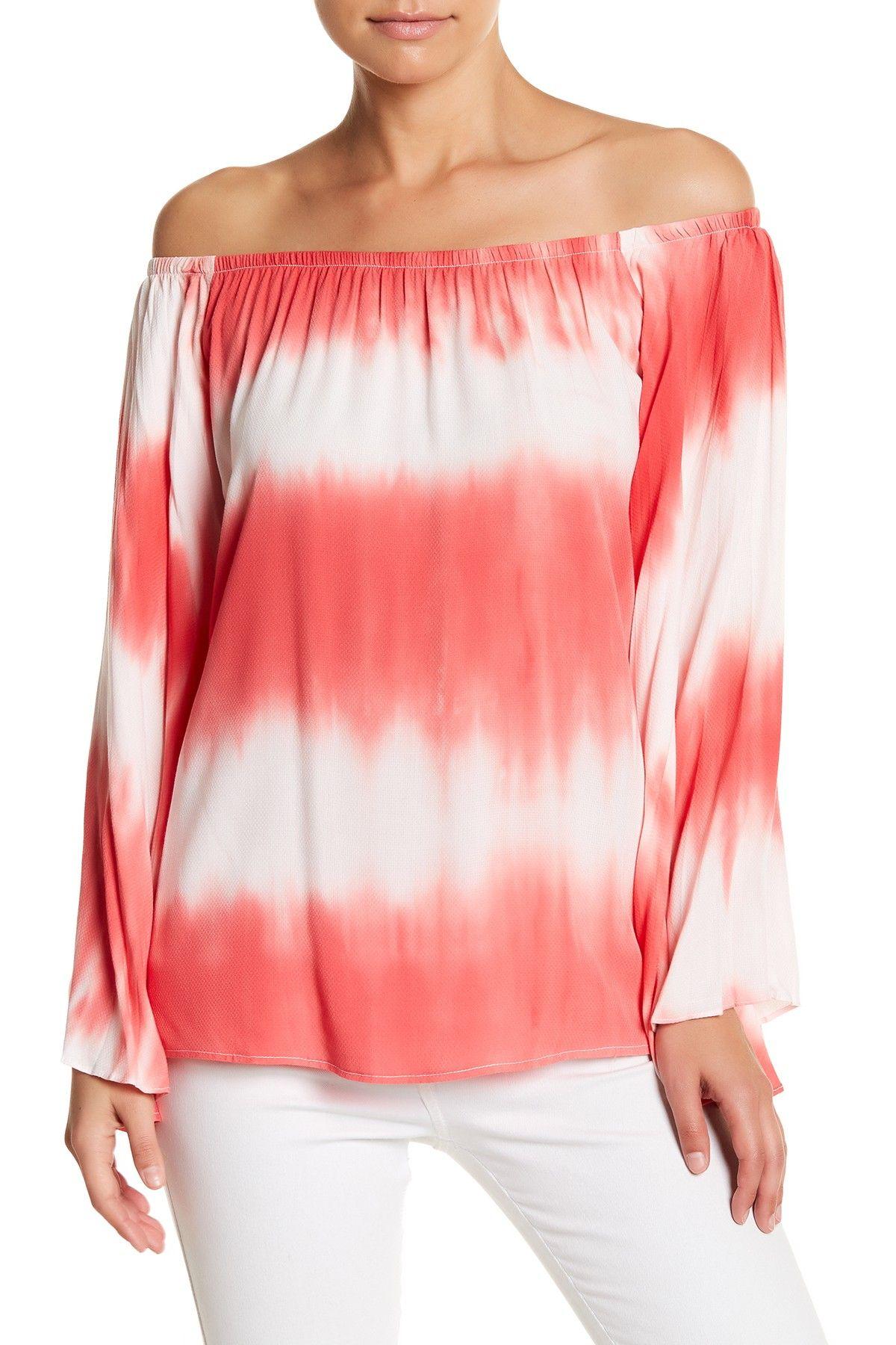 d7c39b47c73dd8 Eliya Off-the-Shoulder Tie-Dye Shirt by VAVA by Joy Han on ...