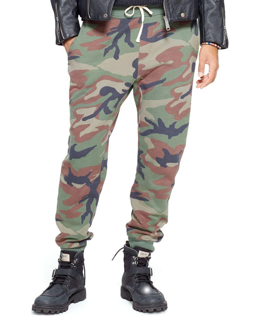 02a47682f9a62 Denim & Supply Ralph Lauren Camo Fleece Jogger Pants | Products ...