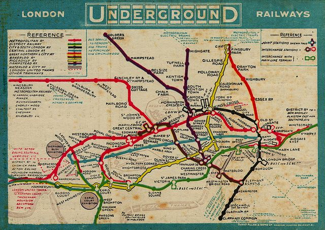 old london tube maps
