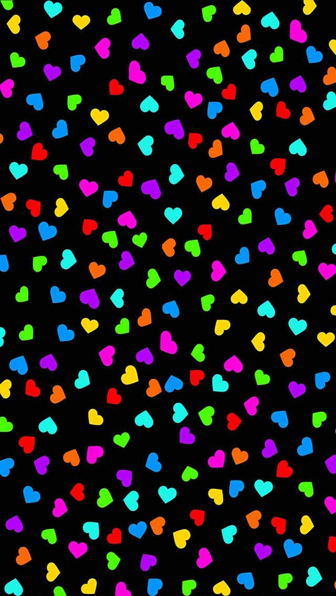 Pin By Lacey Hooton On More Wallz Heart Wallpaper Colorful Heart Beautiful Wallpaper For Phone