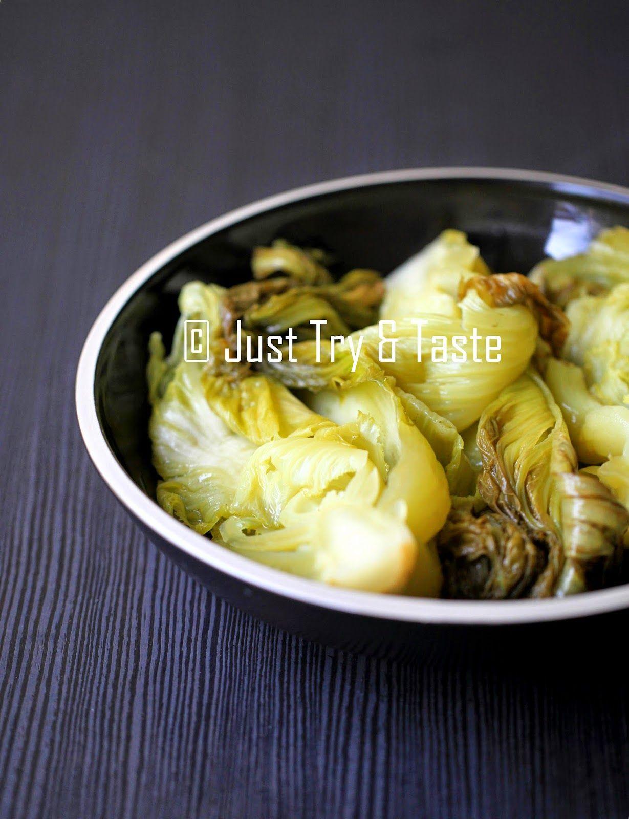 Homemade Acar Sawi Sawi Asin Masakan Indonesia Resep Masakan Asia Resep