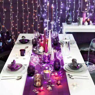 All Things Purple Purple Christmas Christmas Table Decorations Christmas Decorations Dinner Table