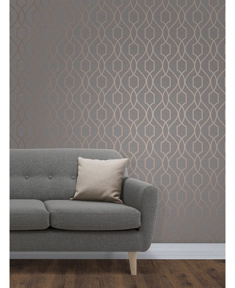 Best The Apex Geometric Trellis Wallpaper Has A Contemporary 400 x 300