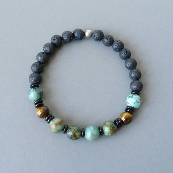 bracelet homme f te des p res bracelet perles hipster. Black Bedroom Furniture Sets. Home Design Ideas