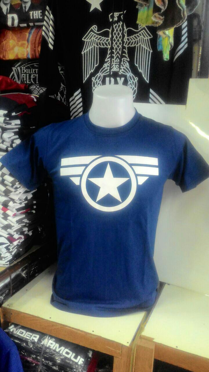 a2897c46 Captain America Under Armour Tshirt RM30 Size M L Whatsapp +60134269210  Black Doom Sri Mayang Kala