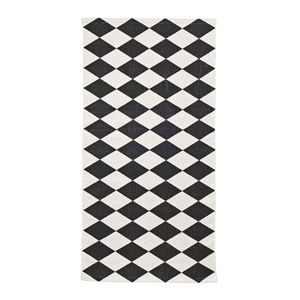 tapis de bain coton motif losange noir et blanc. Black Bedroom Furniture Sets. Home Design Ideas