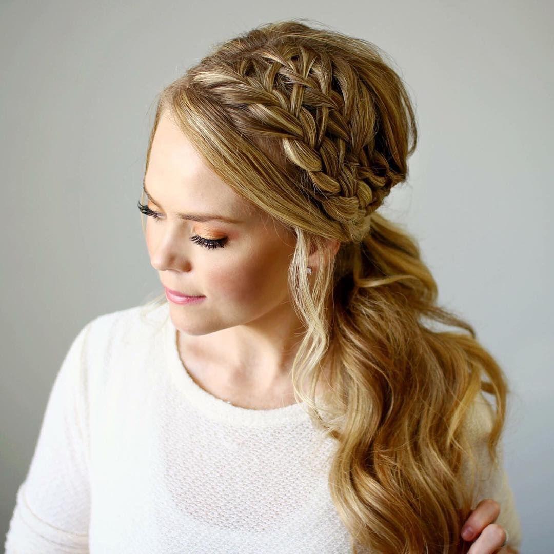 double fishtail headband braids | hair | braided ponytail