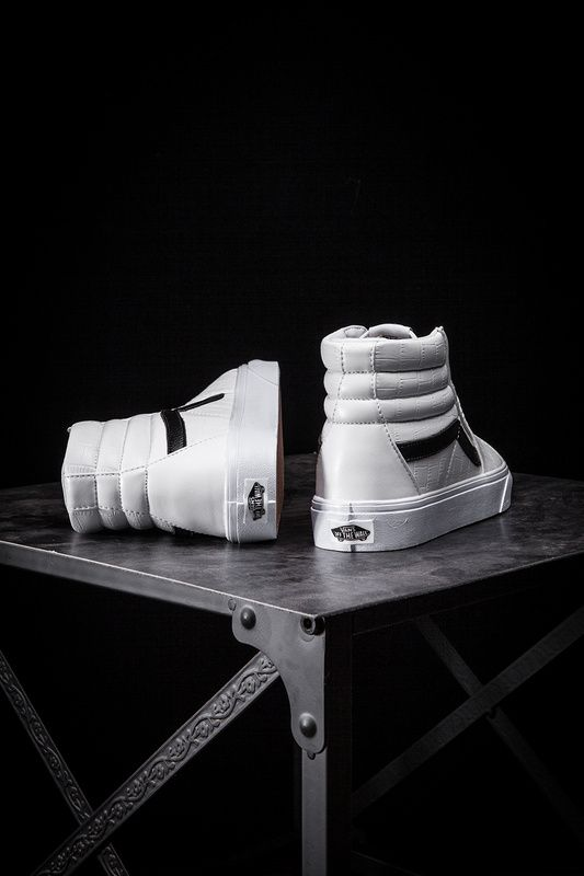 VANS Lynx Shopping Mall Tribute to the classic series Crocodile pattern fashion neutral couple shoes high state white Y06 36-44 [42359608] - $60.00 : Vans Shop, Vans Shop in California