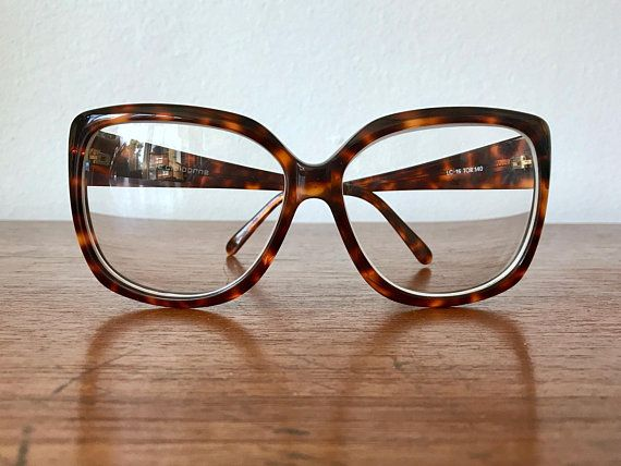 9b7b06946b Oversized Tortoise Eyeglasses - Brown Turtle Shell XLarge Eye Glass Frames  - Prescription Eyewear Frames - 70 s Oversized Eyeglass Frames