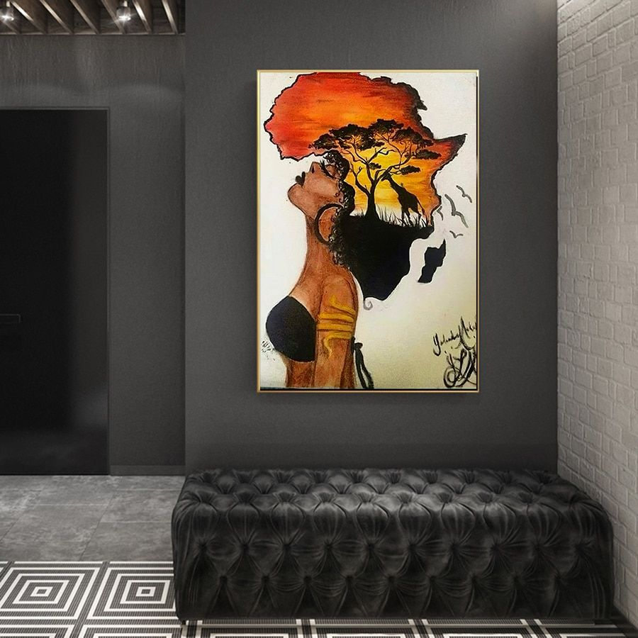 African Art Art//Canvas Print Wall Art Poster Home Decor