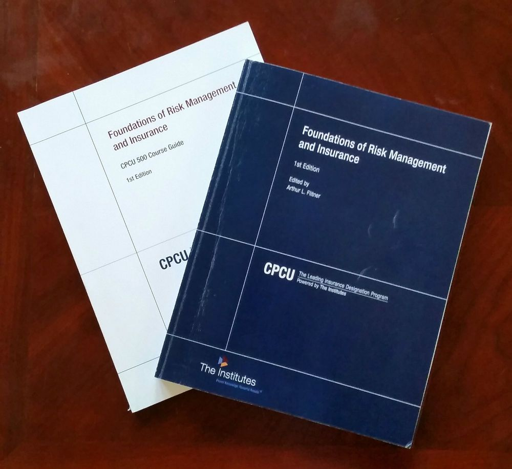 Cpcu 500 Foundations Of Risk Management And Insurance Like New