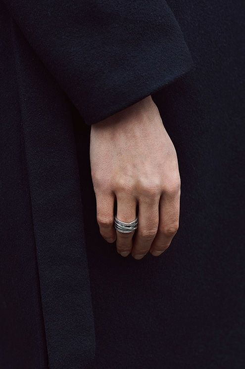 9b12c4e46d2 PANDORA's entwined sterling silver ring is one of Swedish blogger Elin  Kling's favorite pieces. It's perfect for the Nordic minimalistic look.