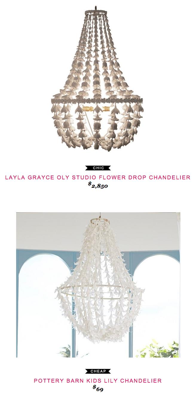 Layla grayce oly studio flower drop chandelier layla grayce oly studio flower drip chandelier 2850 vs pottery barn kids lily chandelier 69 aloadofball Choice Image