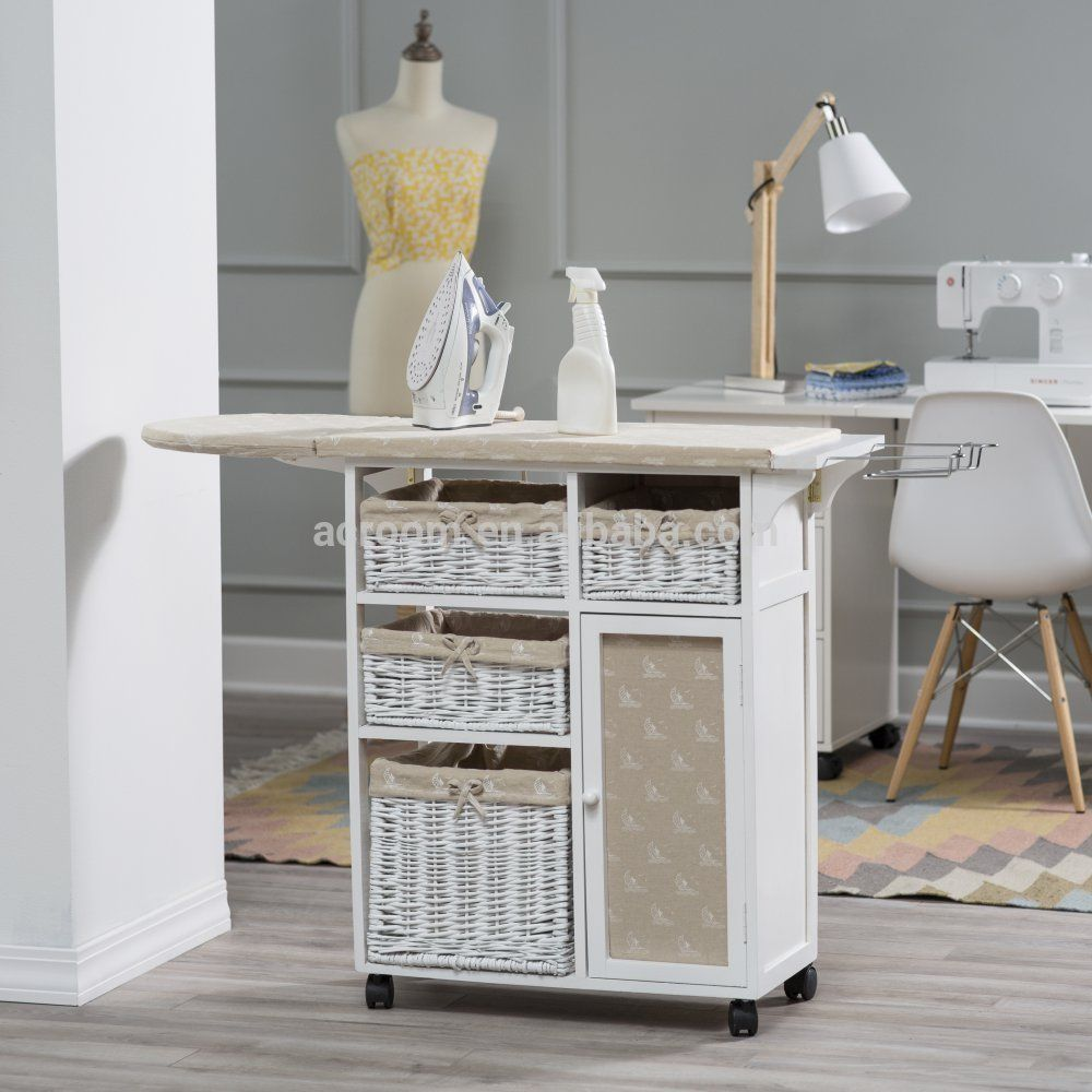 Source Clothes Ironing Table Furniture Ironing Board Wicker Drawers
