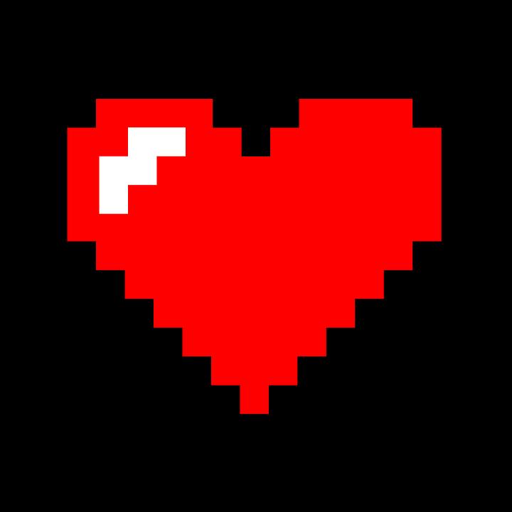 Free Image On Pixabay Pixel Heart Heart Pixel Symbol Pixel Art Pixel Heart Minecraft Pixel Art