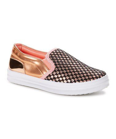 9f56ca177c2 Loving this Black   Pink Checkerboard Star Slip-On Sneaker on  zulily!