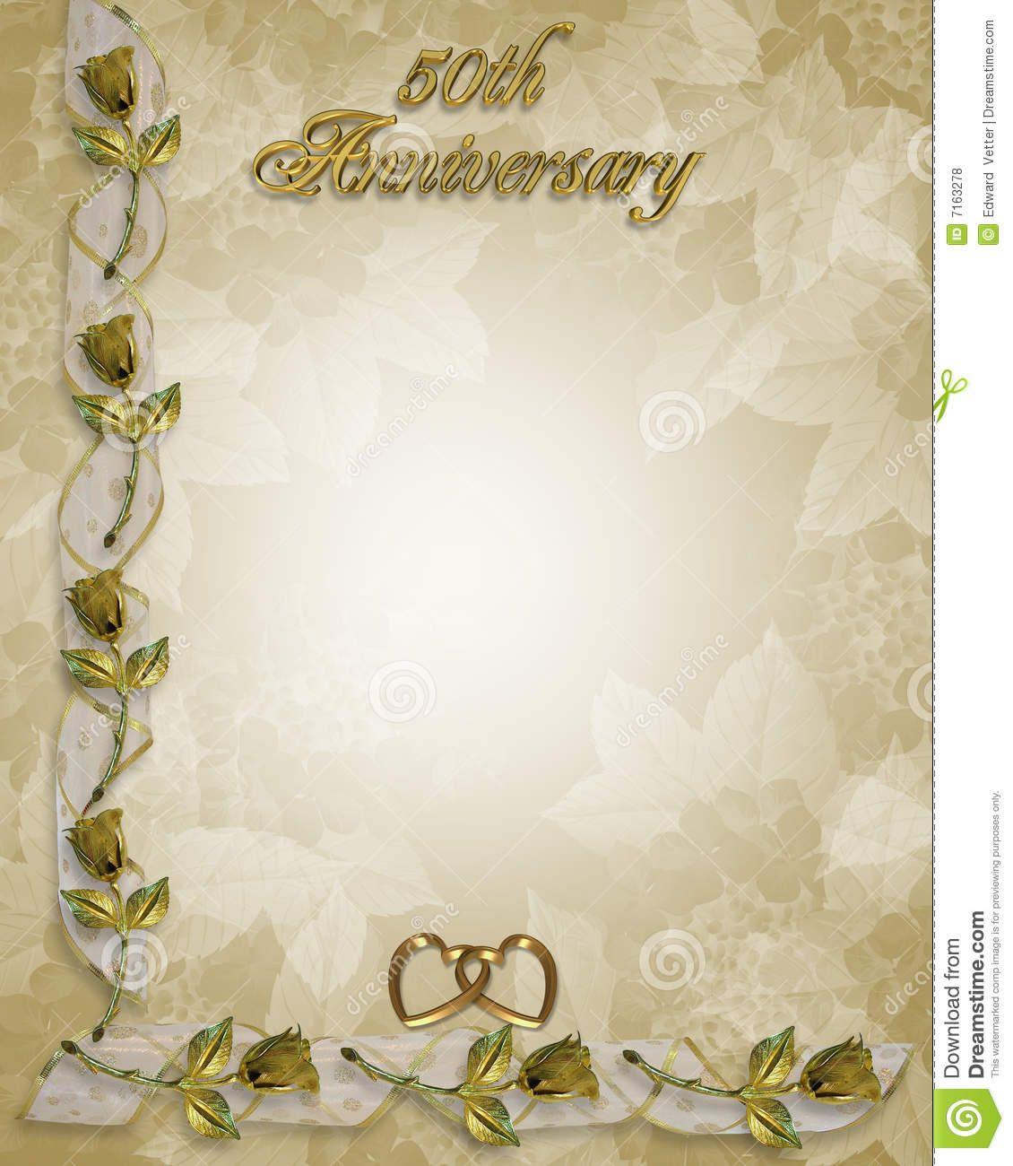50th wedding anniversary 50th Wedding anniversary invitation border frame