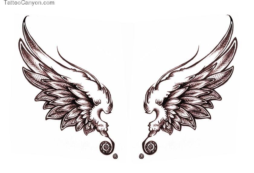 Cute Wings Tattoo Lilzeu De Picture 10379 Wings Tattoo Wing
