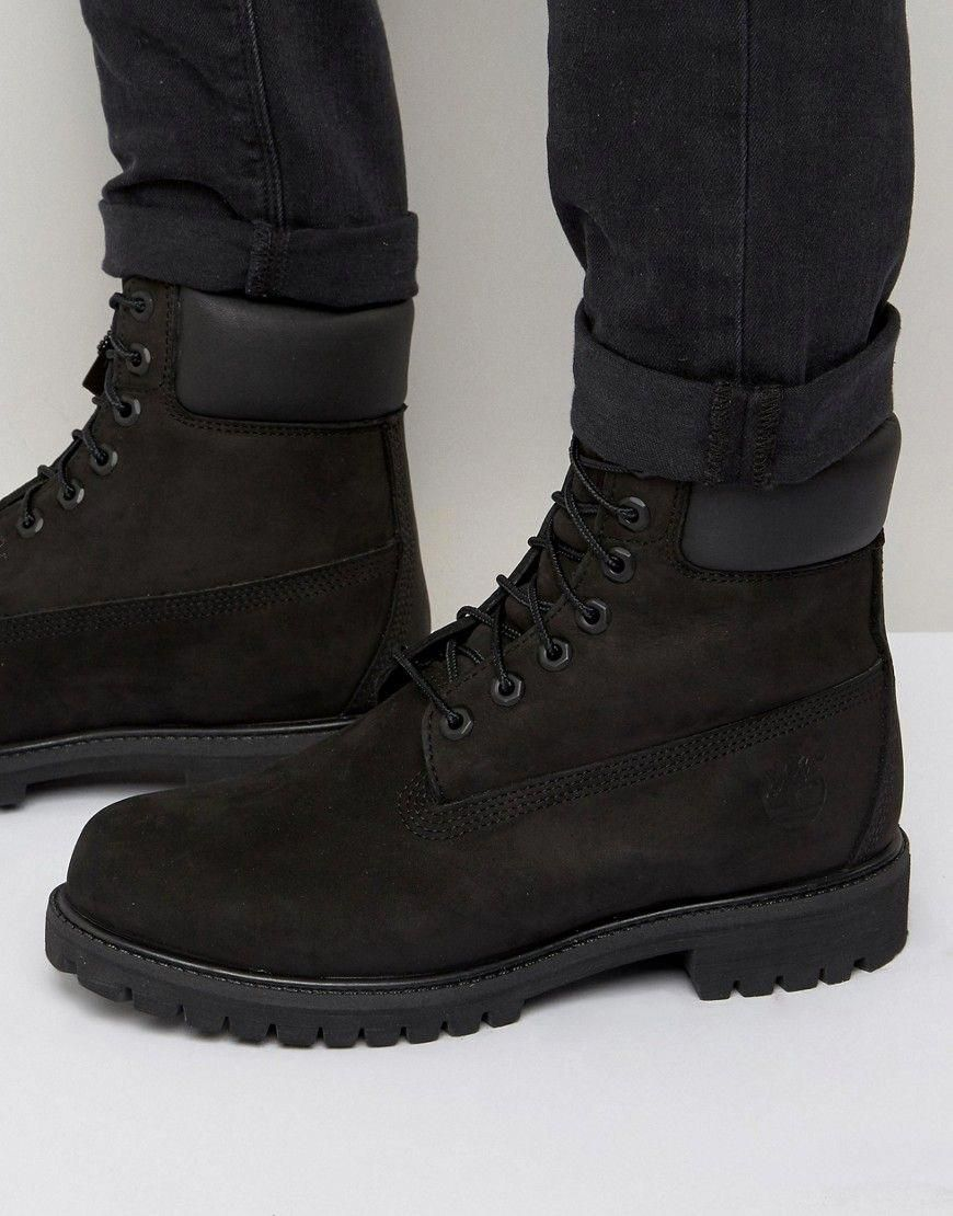 Mens black timberland boots