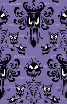 Haunted Mansion Wallpaper Fabric! Haunted mansion