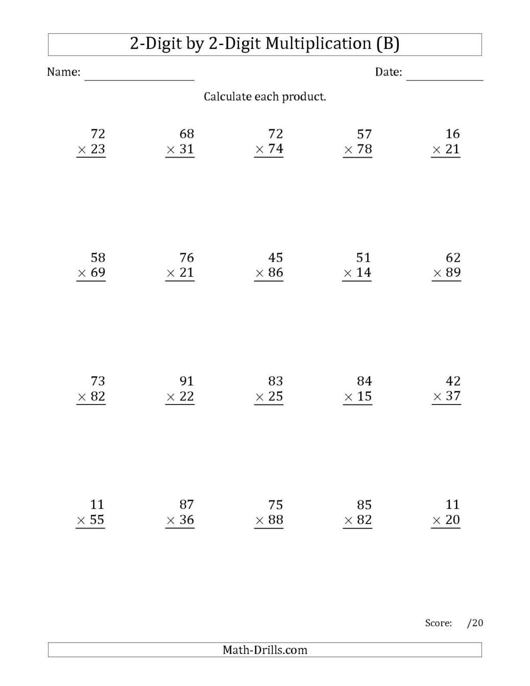 3rd Grade Division Worksheets For Printable To 3rd Grade
