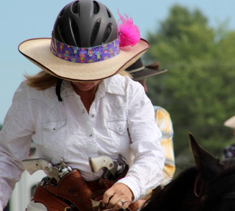 Another Great Idea A Hellhat Combining A Cowboy Hat With A Helmet And It Looks Good The Best Part You Can Make One Yourse Cowboy Hats Horse Helmets Hats