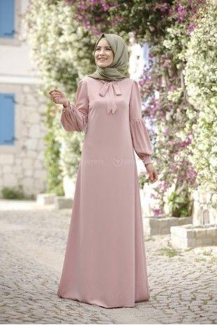 Tuba Elbise Pudra Rana Zen Elbise Islami Giyim Kadin Giyim