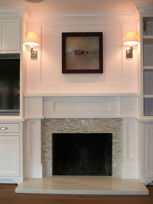 Glass Tile Fireplace Design Ideas & Remodel Pictures | Houzz ...