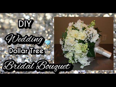 Diy Dollar Tree Wedding Bridal Bouquet How To Make A Bridal Bouquet Tutorial Youtube Dollar Tree Wedding Wedding Bridal Bouquets Diy Bridal Bouquet
