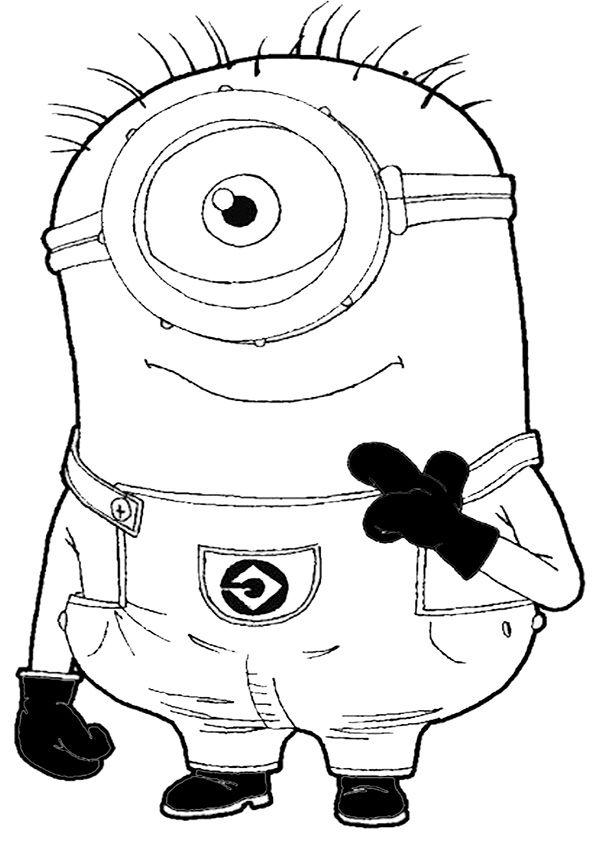ausmalbilder minions-5 | Kind | Pinterest | Minions, Ausmalbilder ...