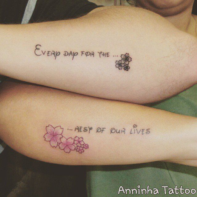 love quote in disney lettering disney couple tattoos. Black Bedroom Furniture Sets. Home Design Ideas