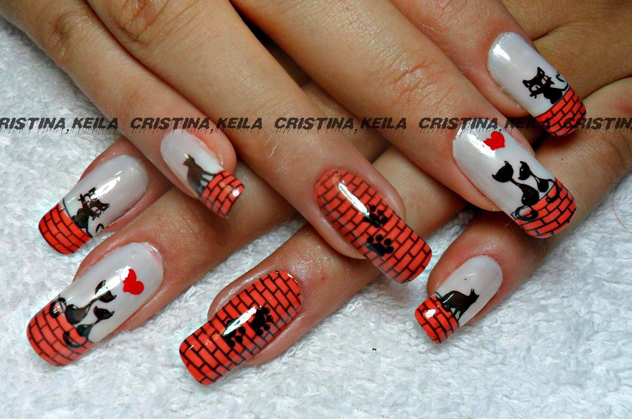 cool cats nails | Amazing Nail Designs | Pinterest | Cat nails and ...
